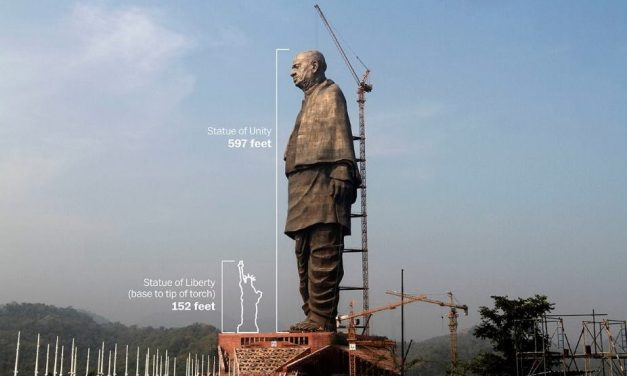 600 Foot Tall Statue of Sardar Patel on the Banks of the Holy Narmada River