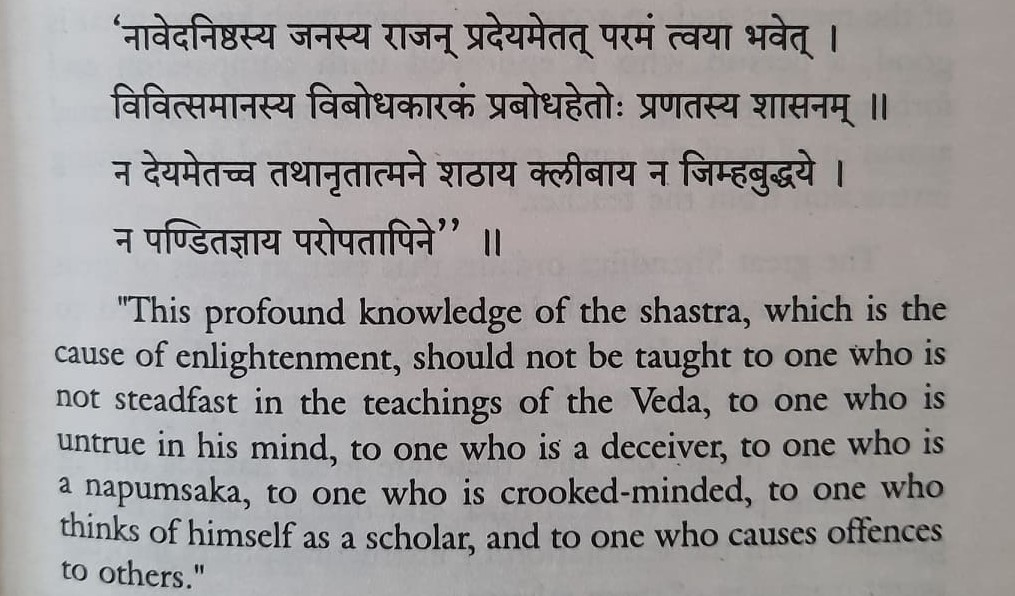 Vedic Knowledge Was Traditionally Forbidden to Third Genders